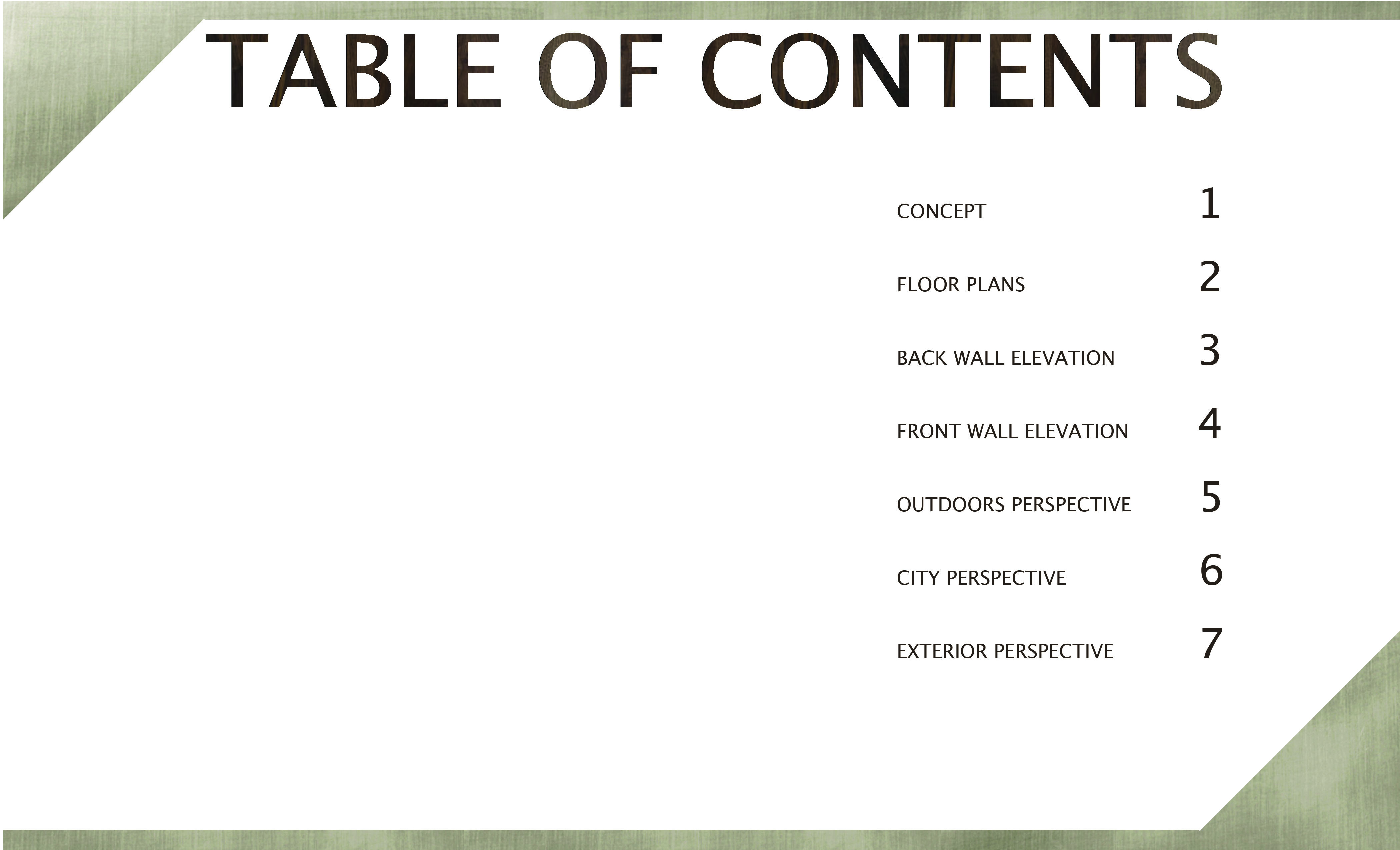 bonobos table of contents